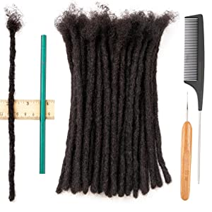 0.6 cm 8 inch human hair dreadlock extensions