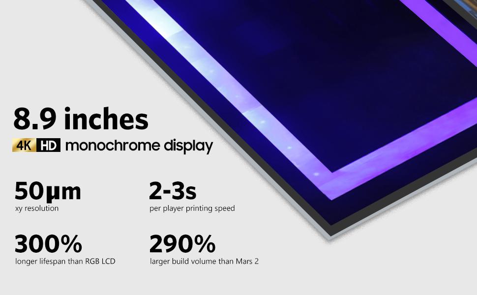 elegoo saturn resin 3d printer 8.9 inches mono lcd