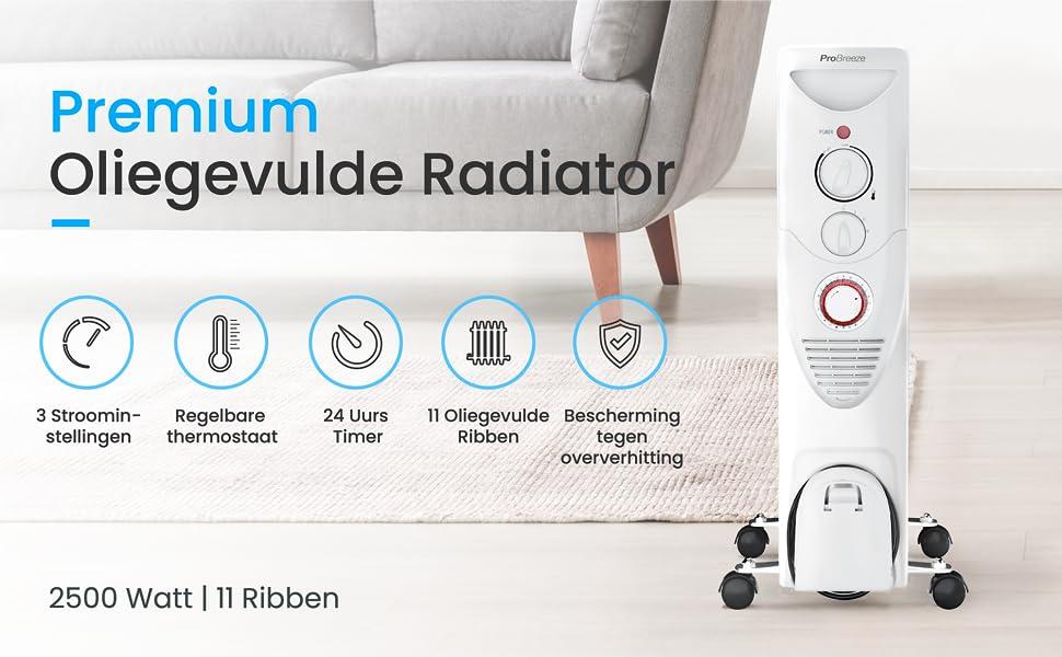 probreeze oliegevulde radiator