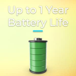 battery, one year battery life.