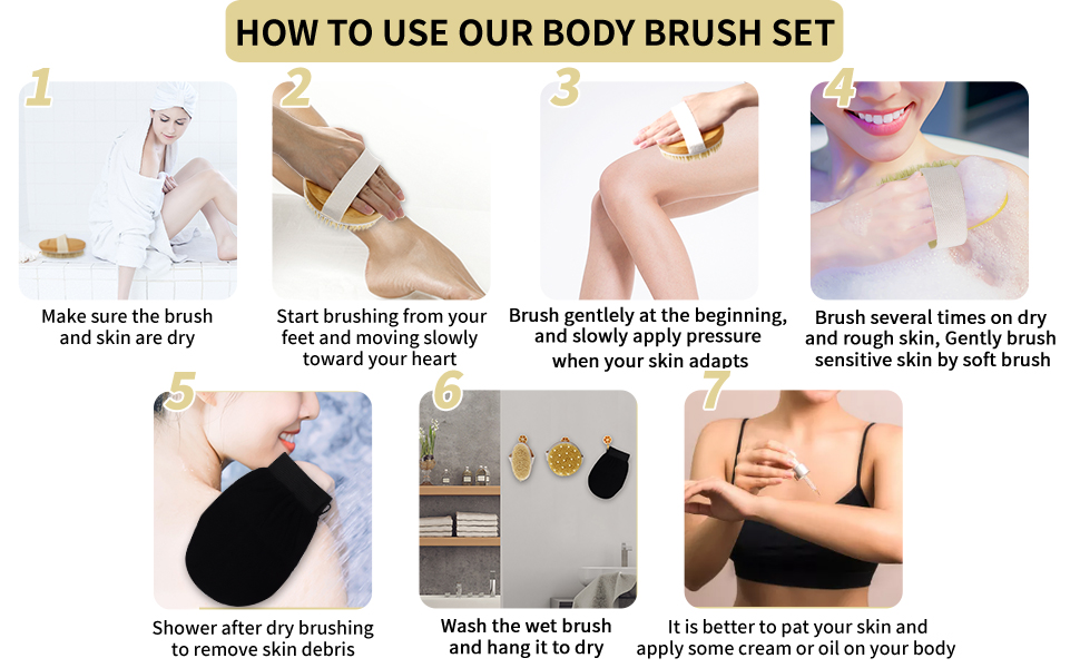 How to use our dry brush set to exfoliation