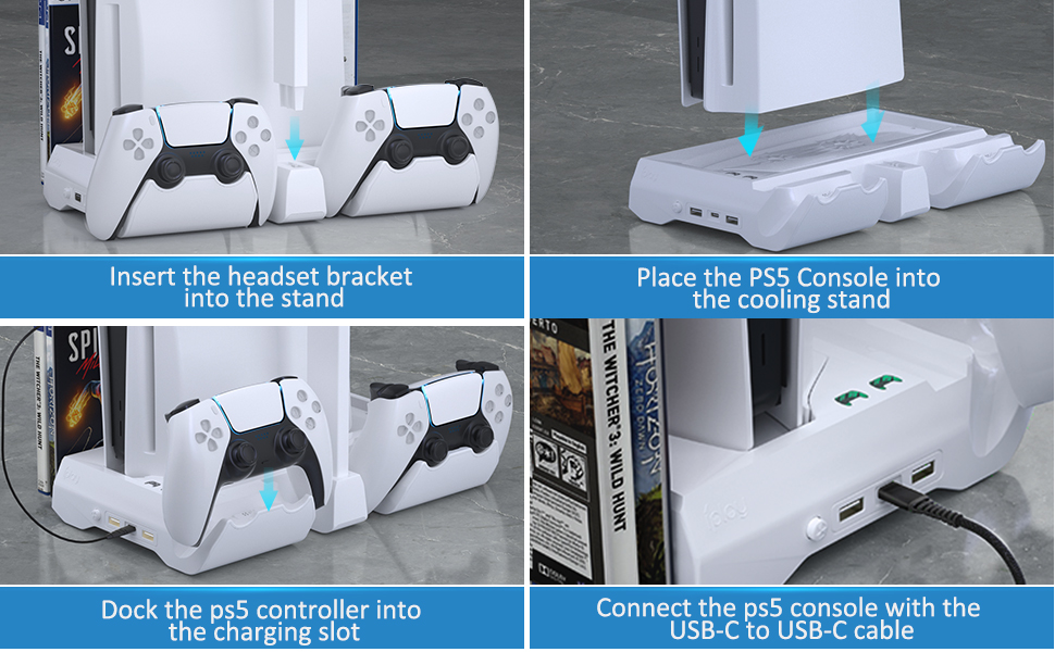 PS5 dual charger controller