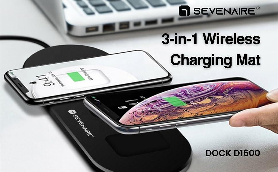 3in1 wireless chaging mat dock