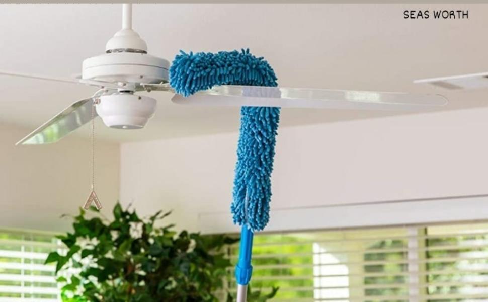 Fan Cleaning Duster,Flexible Fan mop,  Easy Cleaning of Home, Kitchen, Car, Ceiling
