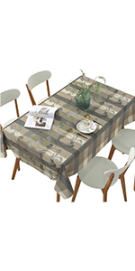 DUOFIRE Heavy rectangular vinyl tablecloth, easy to clean and waterproof table cover