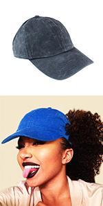 Dreadlocks Backless Ponytail Hat