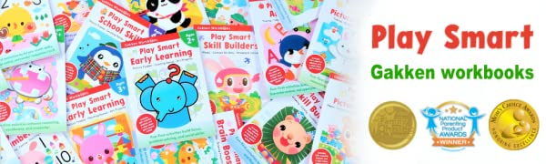 Play Smart Workbook Series by Gakken (Workbooks for Toddlers, Activity books for 3 years old)