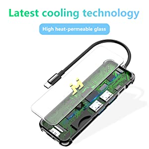 Latest cooling technology, High heat-permeable glass