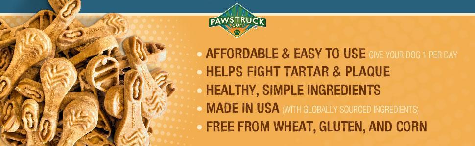 Benefits of Pawstruck Dog Breath Freshener Chews