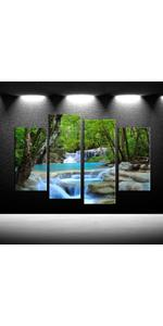 tree pictures for wall waterfall paintings for wall dream like image poster print forest
