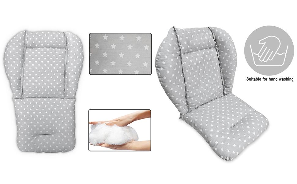 high chair cushion detail