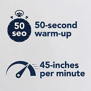quick heat-up amp; high laminating speed