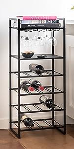 wijnrek, metaal, industrieel, lifa living