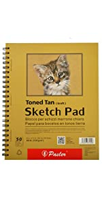 Sketch pad toned tan 12x9