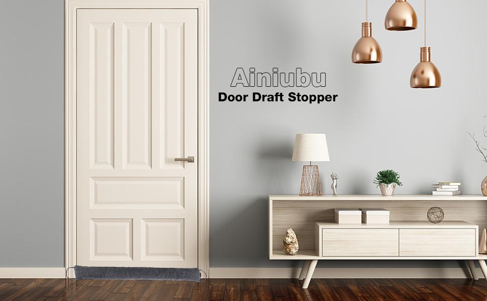 This door draft stopper heavy duty enough to stay propped up against the door
