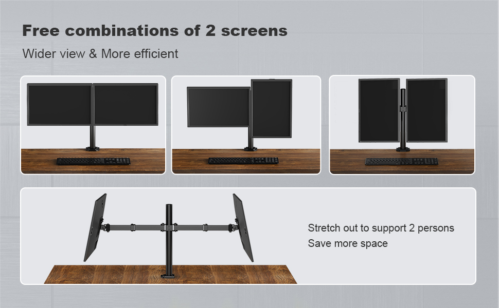 free standing dual monitor arms stand