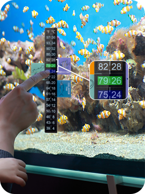 Thermometer Stripe for fish tank temperature monitoring