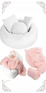 5PCS Baby Photoshoot Set with Photo Donut