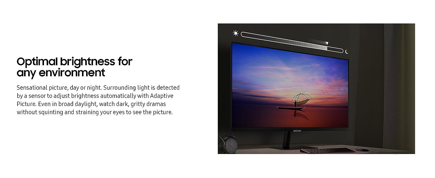 Black Smart Monitor