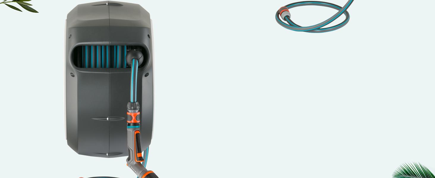 Enrouleur de tuyau mural d'arrosage Technologie d'enroulement automatique enroulement fiable