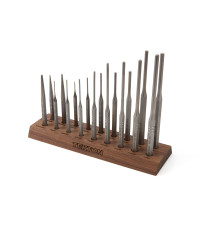 punch and chisel set with walnut block