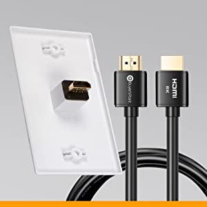 hdmi plate back with female to female direct connection