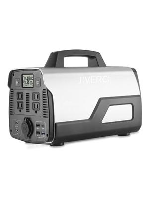 518Wh Portable Power Station for Camping, JIVERCI Solar Generators Inverter
