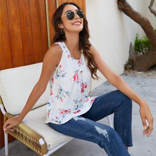 Halife summer tops for women sleeveless shirts for women tunic tank tops for women blouses casual