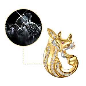 Diamond Fox Pendant