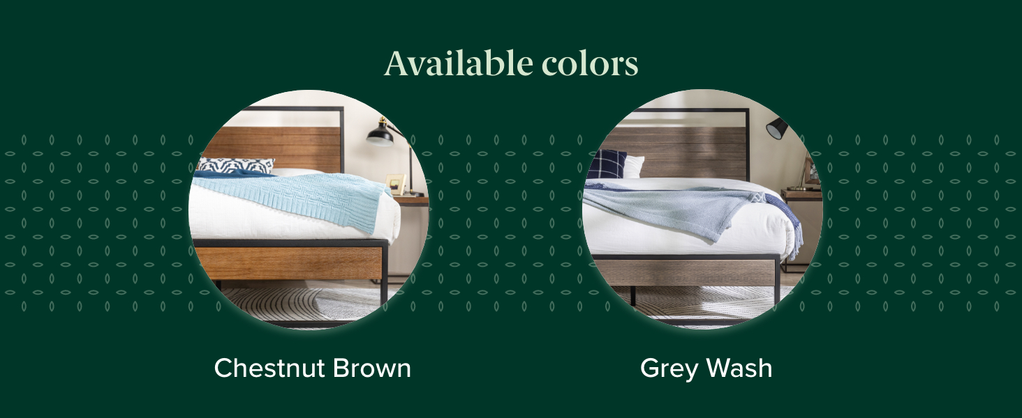 """Suzanne 44"""" Platform Bed Frame Available Colors"""