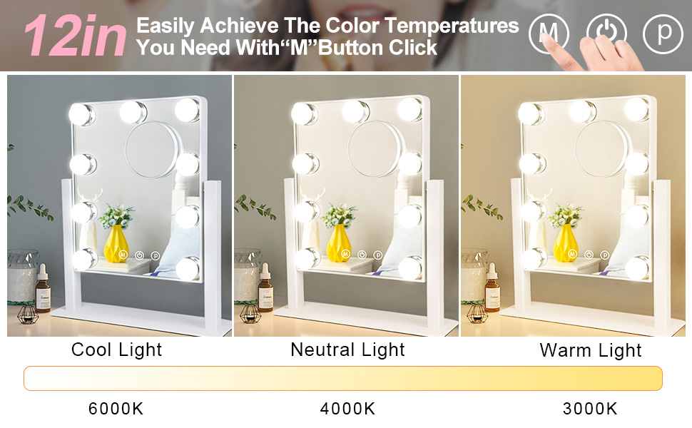 Vanity Mirror With Dimmable Light