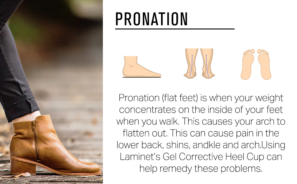 Pronation concentrates the weight on the inside of your feet, causing your feet to flatten out