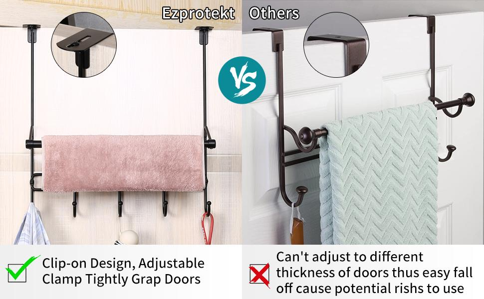 Coat Rack with Towel Bar