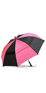 Repel Golf Umbrella Black and Pink