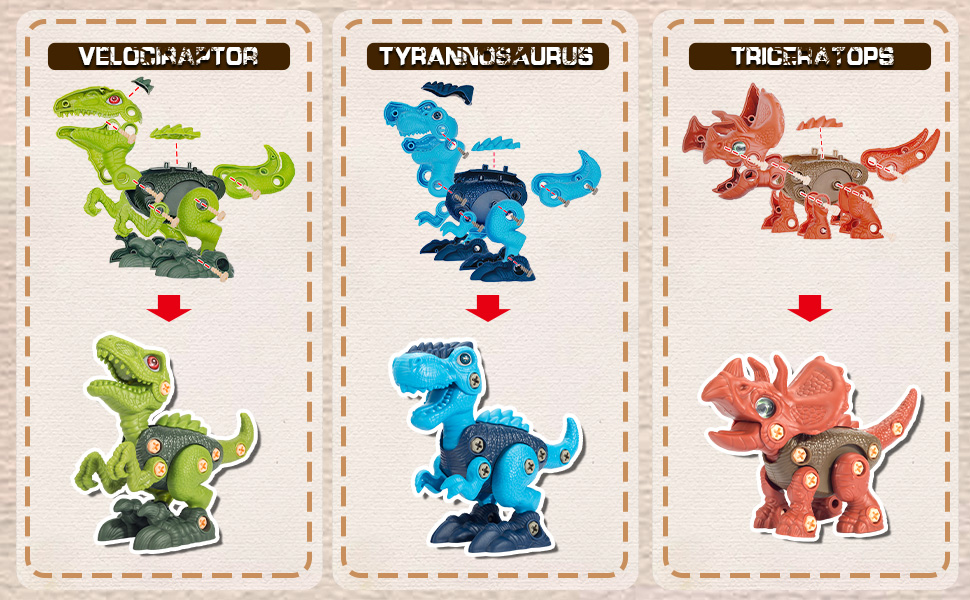 assemble dinosaur toys assembled toy for kids