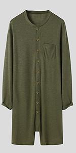men jumpsuit henley button shirt onesie