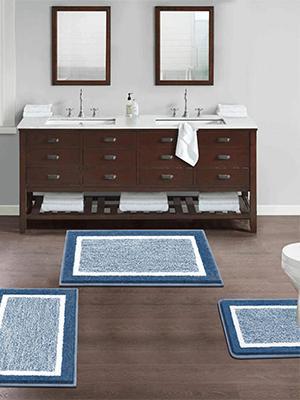 Ultra Plush Shaggy Bath Contour Rugs Combo for your bathroom