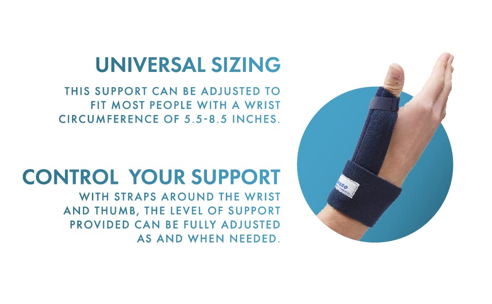 Universal Sizing. Adjustable to fit a wrist circumference between 5.5 and 8.5 inches.