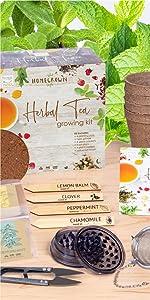 Herbal Tea Garden Growing Starter Kit