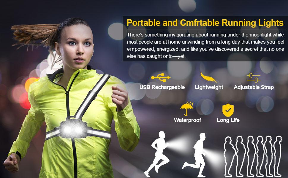 running lights for runner