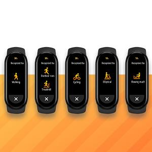 6 種類のエクササイズモードを自動的に認識 いつでも走りだせます
