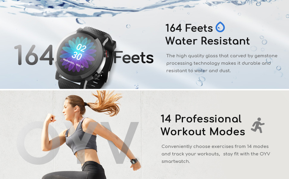 Smart Watch for Android & iOS Phones Compatible 14 Days Endurance IP68 Swimming Waterproof3