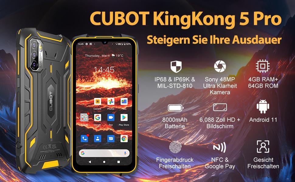 CUBOT Kingkong 5 Pro Outdoor Smartphone ohne Vertrag