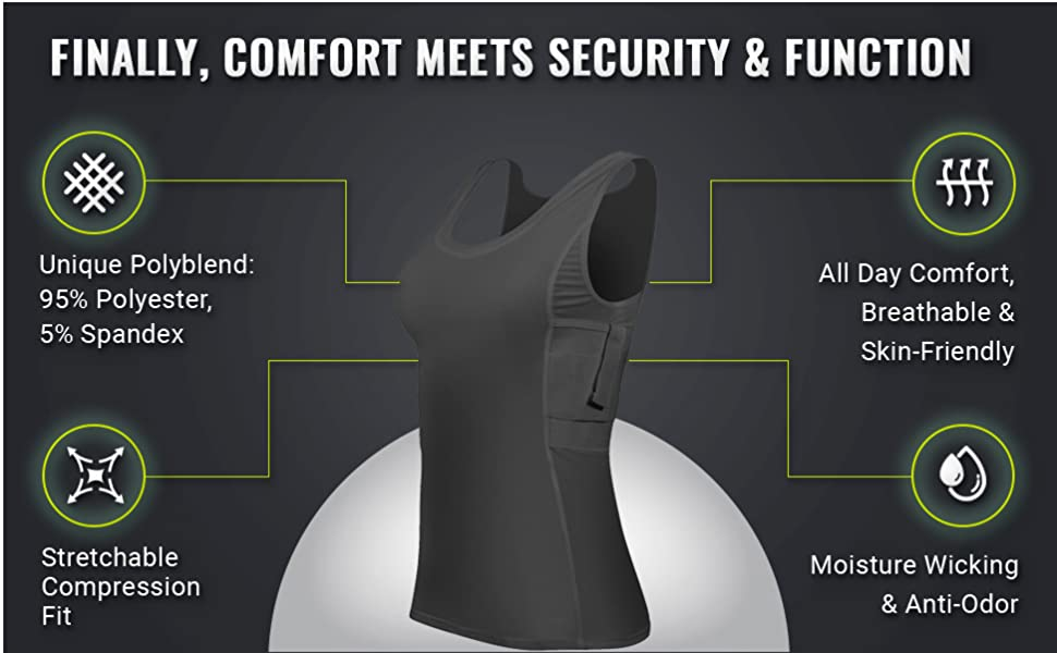 Comfort Meets Security in Our Concealed Carry Undershirts for Women