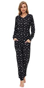 women star printed pajama sets