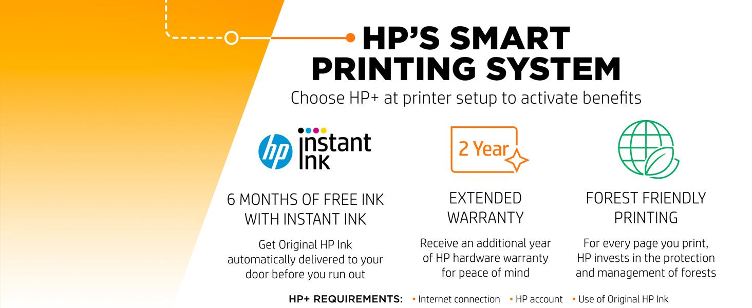 hp+ hp plus Instant Ink extended coverage ink delivery sustainable printing