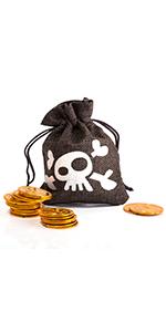 Bolsa de monedas, monedas piratas de oro