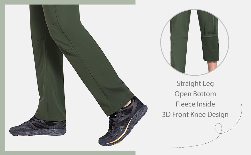 straight leg open bottom