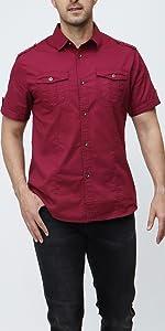 CNROS Short Sleeve Button Down Shirt