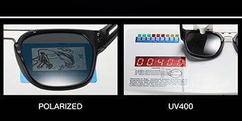 UV polarized lens test